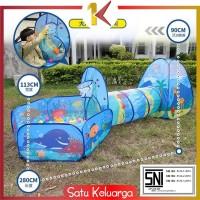 SK-M6 Mainan Tenda Anak Terowongan 4 in 1 + Kolam + Ring Basket Mainan