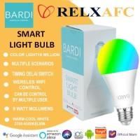 BARDI Smart LIGHT BULB RGB+WW 9W Wifi Wireless IoT For Home Automation