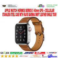 Apple Watch Hermes Series 5 40mm Stainless Fauve Single Leather