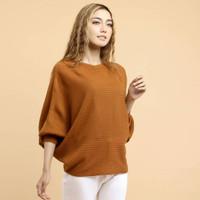 atasan wanita jumbo lasperal coral blouse wanita jumbo sweater jumbo