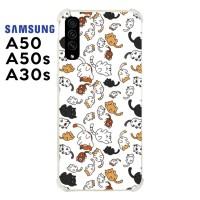 Casing Samsung Galaxy A50 A50s A30s Softcase Anticrack Kucing Lucu 30