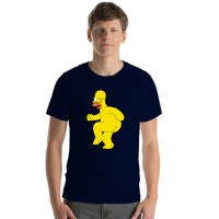 Kaos Baju T shirt Distro Nevy Homer Bart Simpson X00881
