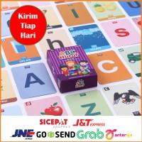 FLASH CARD Kartu Mainan Edukasi Anak 2 Tahun Flashcard Huruf Alphabet