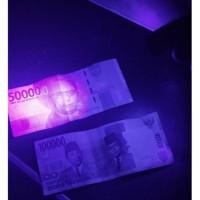 Senter Lampu UV ultraviolet 9 LED baterai money detector Cek Uang