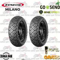 PAKET BAN VESPA RING 12 ZENEOS MILANO 120/70-12 & 130/70-12 TUBLESS