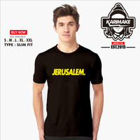 Kaos Baju Islami Jerusalem Kaos Muslim - Karimake