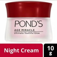 ponds age miracle ultimate youthful glow night cream 10g