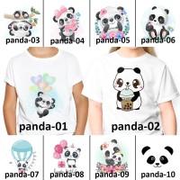 [ FREE NAMA ] Baju Kaos custom ANAK DAN DEWASA panda animal zoo
