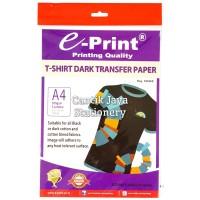 T-Shirt Dark Transfer Paper A4 300gsm E-print (5lembar)