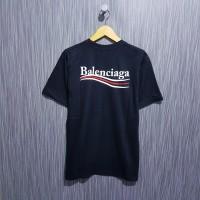 kaos / tshirt / baju balen ciaga paris font hitam premium
