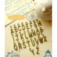 Bandul Charm Huruf/Alfabet/Alphabet Pendant Liontin Kalung Gelang