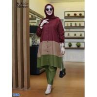 Set ainin / Tunik +Celana Murah /Setelan Baju Muslim Wanita