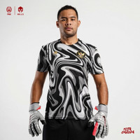 MILLS Timnas Indonesia Home Jersey Keeper Player Issue 1020GR Charcoal - XS