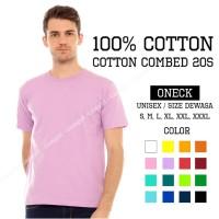 Kaos polos combed 20s - UNGU MUDA(100% cotton)/ baju polos/ kaos polos
