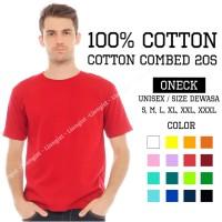 Kaos polos combed 20s - MERAH (100% cotton)/ baju polos/ kaos polos