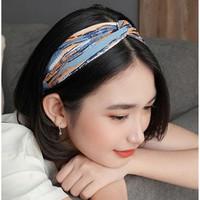 Aksesoris Kepala Bando Bandana Headband Wanita Cewek Korea Cantik - Merah Muda