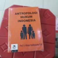 antropologi hukum Indonesia hilman hadikusuma