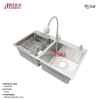 Paket Lengkap Kitchen Sink Bak Cuci Piring Wastafel SUS304 Thsink 8245