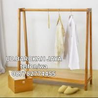 hanger baju/hanger kayu jati belanda/gantungan baju anak