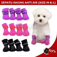 Sepatu Boots Anjing Kucing Murah Waterproof Rain Anti Air Hujan M & L