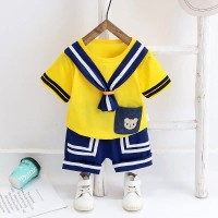 setelan baju bayi anak yellow sailor keren