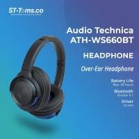 Audio Technica ATH-WS660BT Solid Bass Over-Ear Headphones - Black Blue