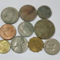 Koin Mancanegara campur 10 pcs murah TP18yb