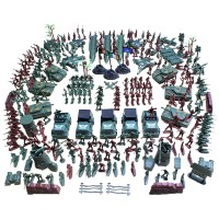 307 Piece Plastic Toy Soldier Playset Army Men Action Figure Scene
