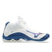 Sepatu Voli Volly Volley Mizuno Wave Lightning Z6 WLZ6 Mid White Blue