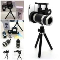 Paket Fotografi For Smartphone Lensa Tele Zoom Tripod With Holder U