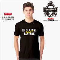 Kaos Baju PUBG Free Fire HP Kentang Bacot Lantang Kaos Game - KRMK