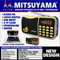 MS4024 Mitsuyama Radio Speaker FM USB 2TF Card Powerbank Charge Cas