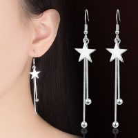 Anting HOOK Tassel Korea Silver S925 Panjang Bintang Star A0005