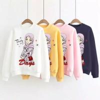 Sweater Muslimah Hijabers Sweater Remaja Muslim Baju Lengan Panjang
