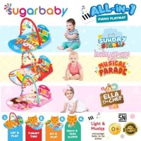 Sugar Baby All-in-1 Piano Playmat / Sugarbaby alas main karpet 4 in 1