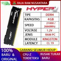 RAM KINGSTON HYPERX FURY DDR4 4GB 2666MHz 21300 GAMING RAM PC DDR4 8GB