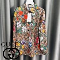 Baju Atasan Wanita Kemeja Import Premium Gucci Flowers