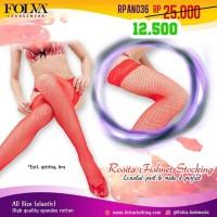 Lingerie Stocking Merah RPAN036 - Baju Tidur Sleepwear by Kimochi Me