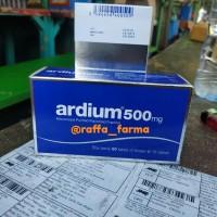Ardium 500mg.. perbox.. isi 60tablet.. exp okt 22