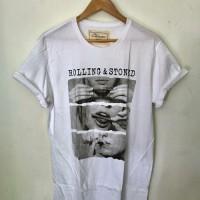 Baju kaos Rolling & Stone - Putih, S