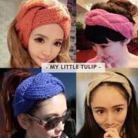 Headband Winter Bando Wool Cantik Tebal Keren Korea Jepang Bahan Impor
