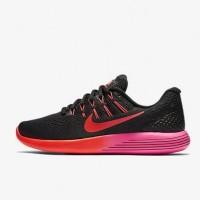 Sepatu Running Nike Lunarglide 8 - Black Pink (100% Authentic) SALE