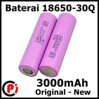 Original Samsung Baterai Battery Li Ion Flat Top 18650 30Q 3000 mAh