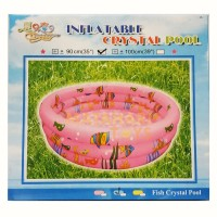 Kolam Mandi Bola Renang Anak Karet 90 x 30 cm pink biru kuning