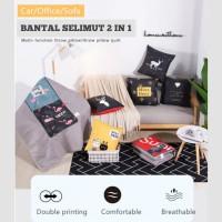 Bantal Selimut Tidur 2in1 Kualitas Premium Motif Balmut Traveling New