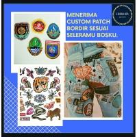 Termurah dan Terbaik Bordir Custom Emblem / Patch Logo / Nama Bordiran