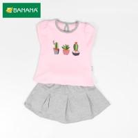 BANANA Setelan Baju Bayi Perempuan Kaktus Sablon
