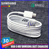 Kabel Data Samsung A31 Samsung A51 ORIGINAL 100% USB C Fast Charging - Putih