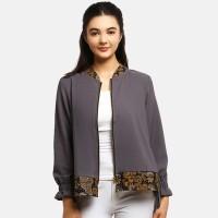 Anakara Luaran Batik Wanita - Bomber Outer Aria - Brown - Cokelat, L