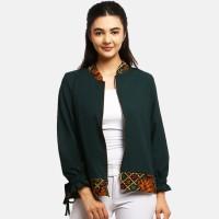Anakara Luaran Batik Wanita - Bomber Outer Samantha - Green - Hijau, L